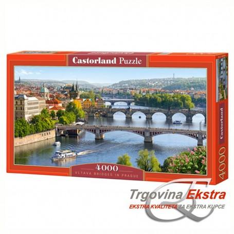 Puzzle, 4000 kom - Mostovi preko Vltave, Prag