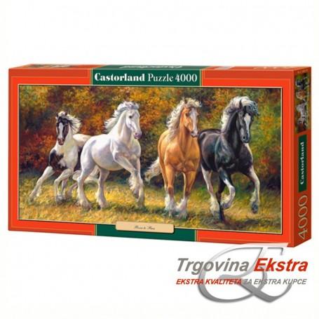 Puzzle, 4000 kom - Konji