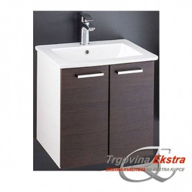 Family 50 lower bathroom cupboard small wenge