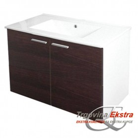 Family 80 lower bathroom cupboard small wenge
