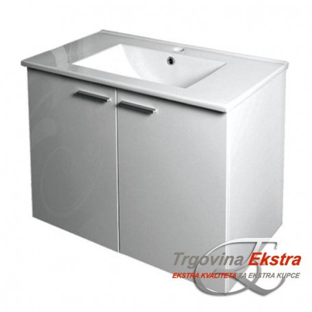 Family 80 bottom bathroom cupboard - white