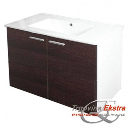 Family 70 Lower Bathroom Cabinet - Wenge
