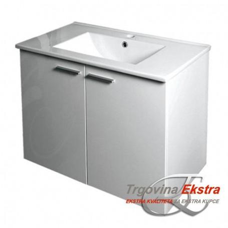Family 70 Lower Bathroom Cabinet - White