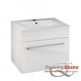 Tia 60 lower bathroom cabinet white