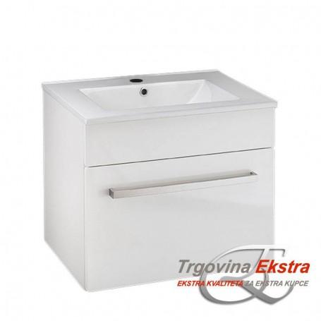 Tia 60 lower bathroom cabinet white