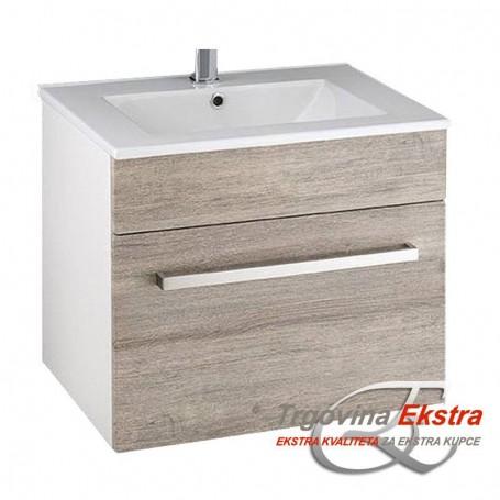 Tia 60 bottom bathroom cupboard gray marble