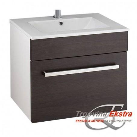 Tia 60 lower bathroom cupboard small wenge