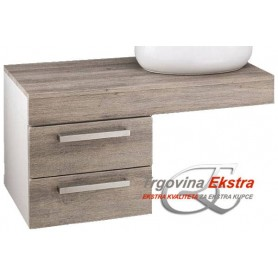 Artline 100 bottom bathroom cupboard in grey mara decor