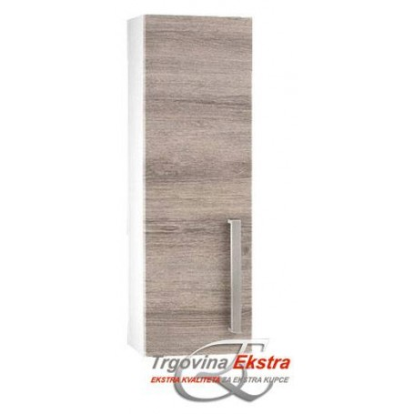 Artline 80 side bathroom cupboard in grey mara decor
