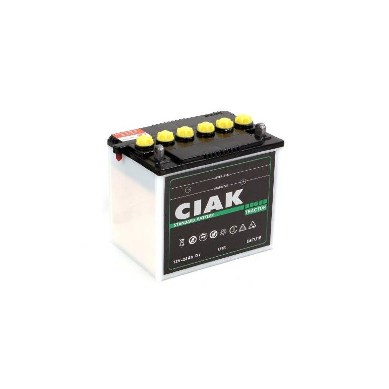 battery ciak starter tractor 12v 24ah r for commercial vehicles. Black Bedroom Furniture Sets. Home Design Ideas