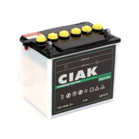 Battery CIAK Starter Tractor 12V-24Ah R+ for commercial vehicles