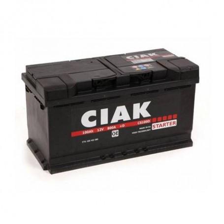 Battery CIAK Starter 12V-100Ah D+ for personal vehicles