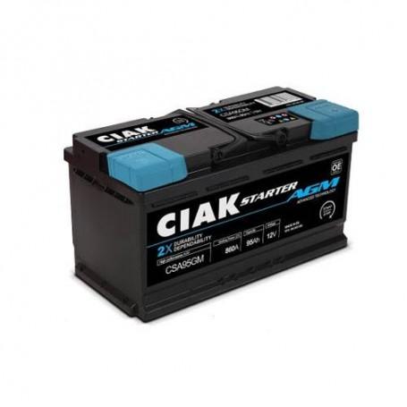 Battery CIAK Starter AGM 12V-95Ah R+ for personal vehicles