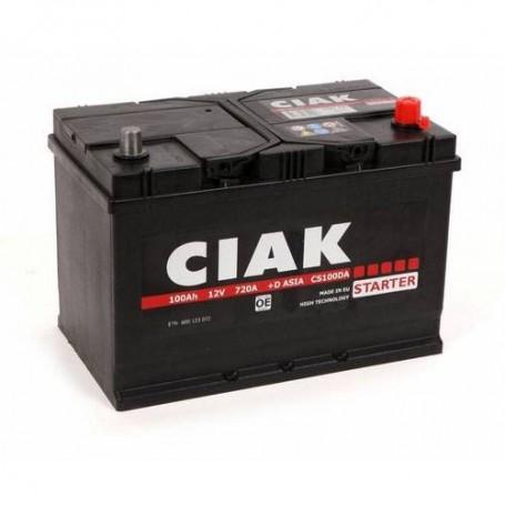 Battery CIAK Starter Asia 12V-100Ah R+ for personal vehicles