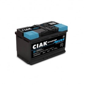 Battery CIAK Starter AGM 12V-80Ah R+ for personal vehicles