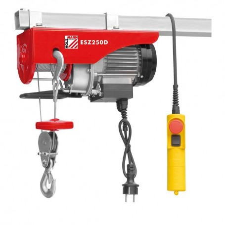 Electric wire rope hoist 250kg ESZ250D 230V Holzmann Maschinen