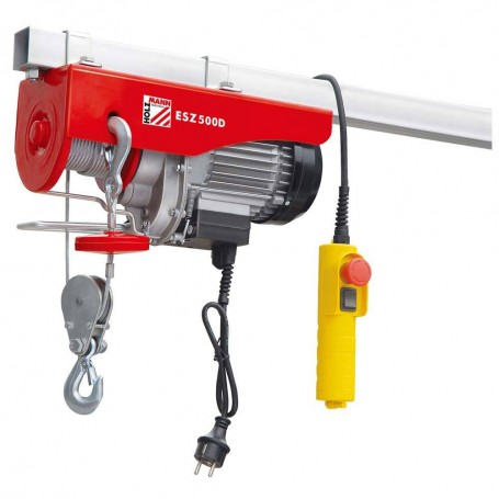Electric wire rope hoist 500kg ESZ500D 230V Holzmann Maschinen
