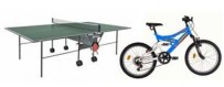 Bicycles, table tennis and other sports equipment